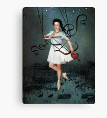 Hit by your love Canvas Print