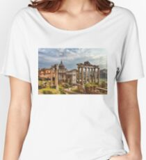 Ancient Roman Forum Ruins - Impressions Of Rome Women's Relaxed Fit T-Shirt