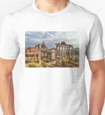 Ancient Roman Forum Ruins - Impressions Of Rome T-Shirt