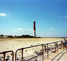 Barnegat Light, Old Barney, Long Beach Island, New Jersey by Jane Neill-Hancock