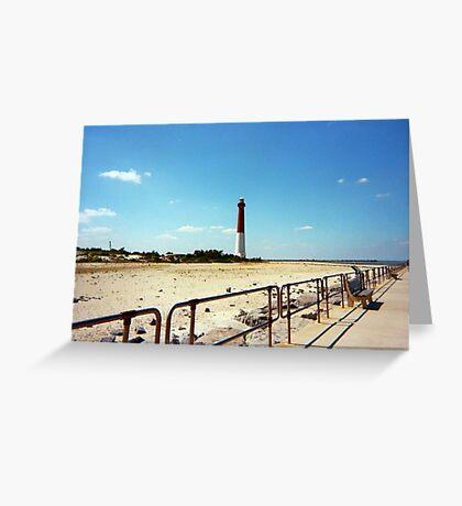 Barnegat Light, Old Barney, Long Beach Island, New Jersey Greeting Card