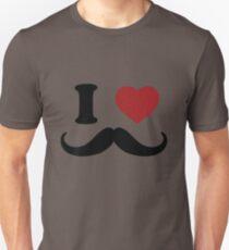 I Love 'Stache Unisex T-Shirt