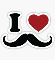 I Love 'Stache Sticker