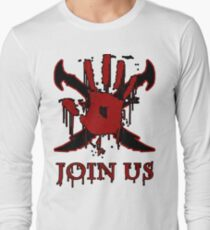 "***AWESOME*** Dark Brotherhood ""JOIN US"" Long Sleeve T-Shirt"