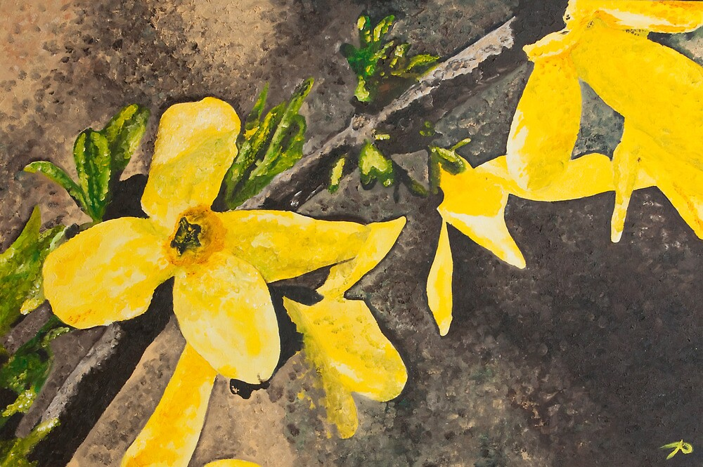 Yellow Flowers by Amara Paul