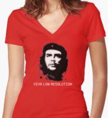 Viva Low Resolution Women's Fitted V-Neck T-Shirt