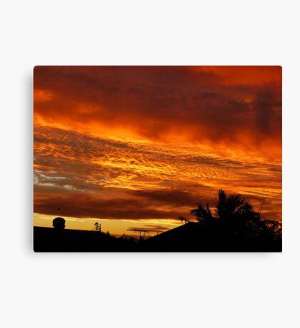 Sunset from my backyard Canvas Print