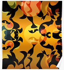 Black Paper Abstract: Tadpoles Poster