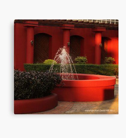 red fountain Canvas Print