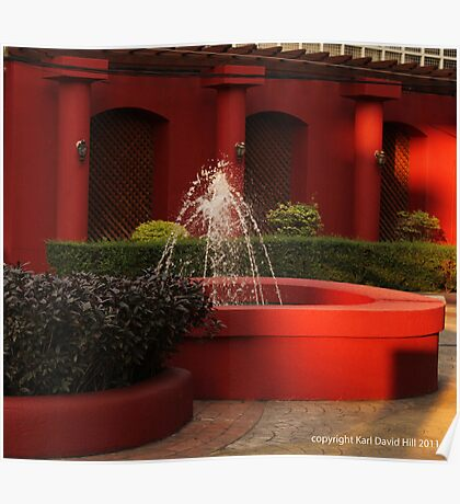 red fountain Poster