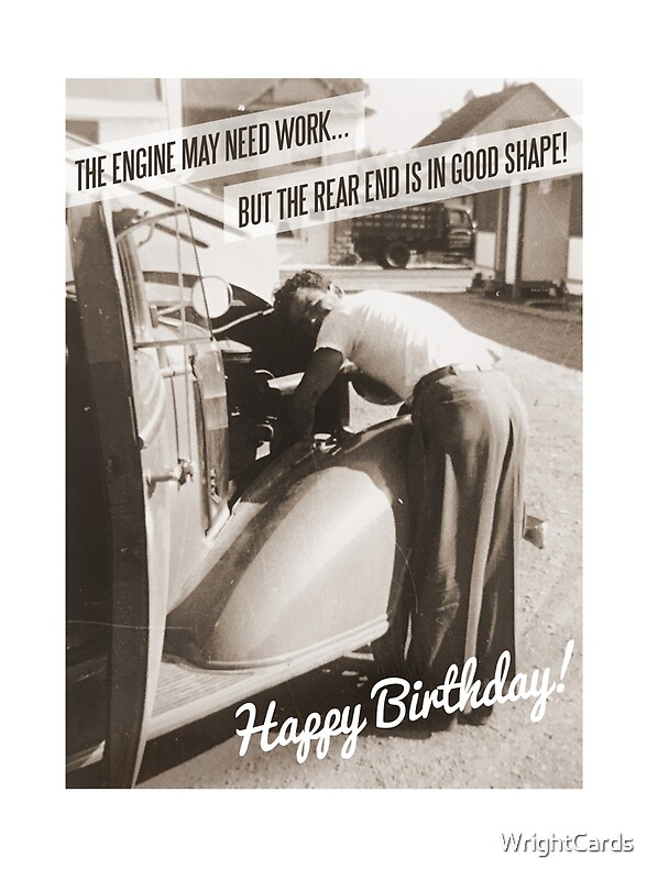 Funny retro birthday card vintage car greeting cards by funny retro birthday card vintage car by wrightcards bookmarktalkfo Image collections