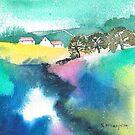 Spring Colour Mini Landscape by artbyrachel