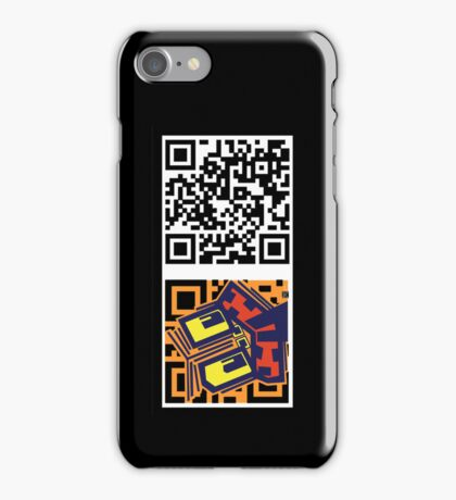 QR code tiki iPhone Case/Skin