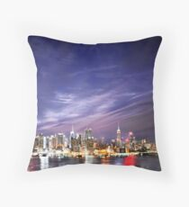 Manhattan Skyline: NYC Throw Pillow
