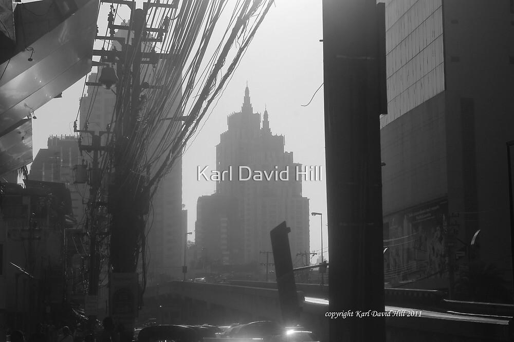 bangkok morning (black and white) by Karl David Hill