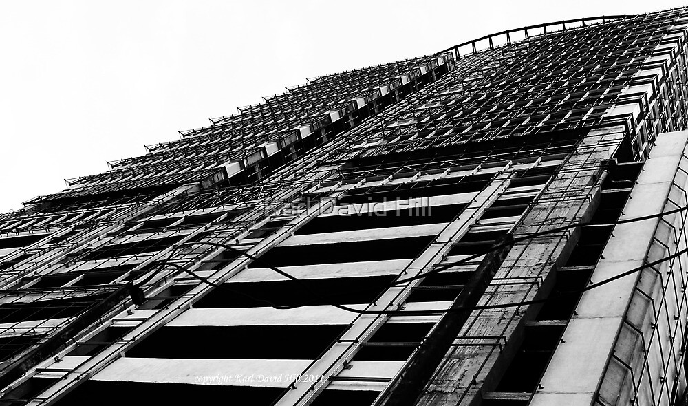 metro (black and white) by Karl David Hill
