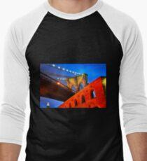 Brooklyn Bridge: NYC Men's Baseball ¾ T-Shirt