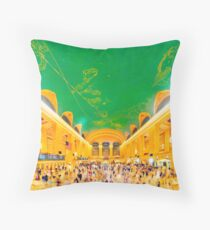 Grand Central Terminal: NYC Throw Pillow