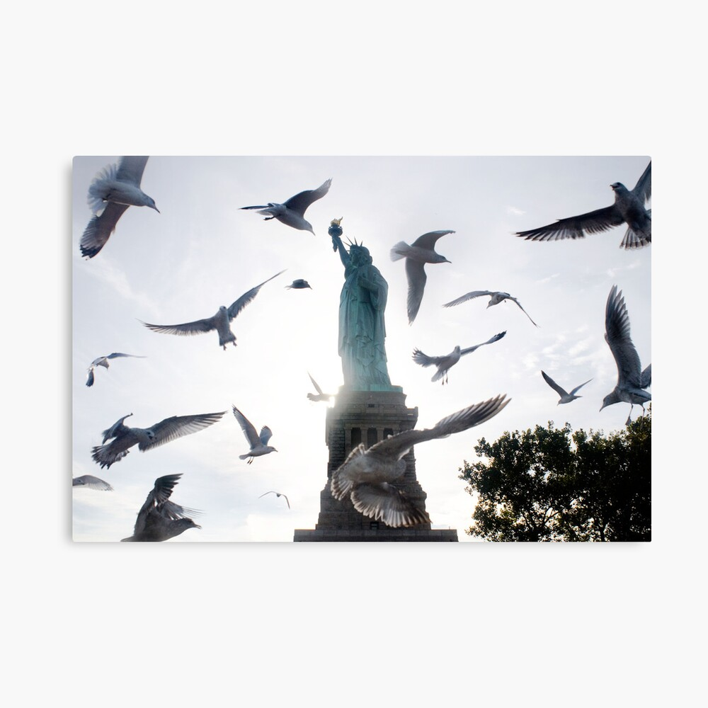 Statue of Liberty with Birds: NYC Canvas Print