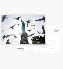 Statue of Liberty with Birds: NYC Postcards