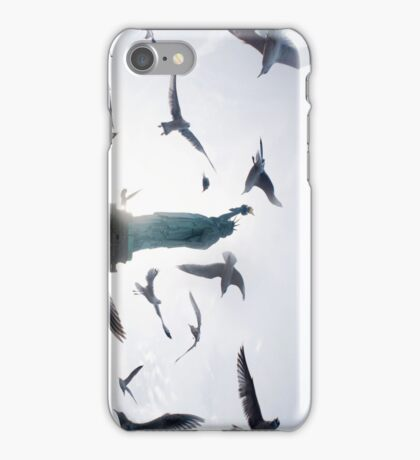 Statue of Liberty with Birds: NYC iPhone Case/Skin