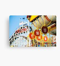 Coney Island Astroland and Cyclone: Brooklyn, NYC Canvas Print