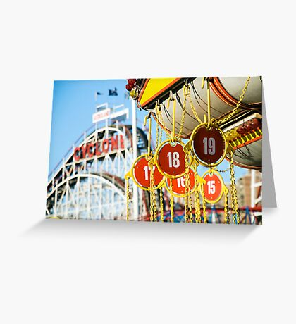 Coney Island Astroland and Cyclone: Brooklyn, NYC Greeting Card