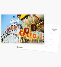 Coney Island Astroland and Cyclone: Brooklyn, NYC Postcards
