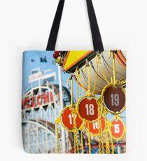 Coney Island Astroland and Cyclone: Brooklyn, NYC Tote Bag