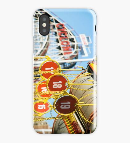 Coney Island Astroland and Cyclone: Brooklyn, NYC iPhone Case