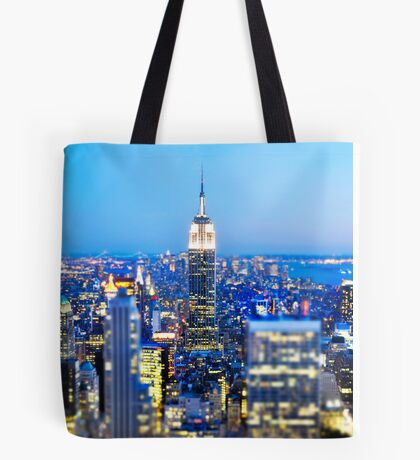 Empire State Building at Night: NYC Tote Bag