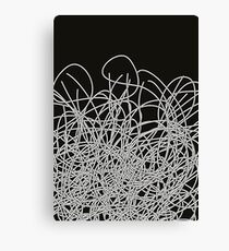 Black and white tangled wires Canvas Print
