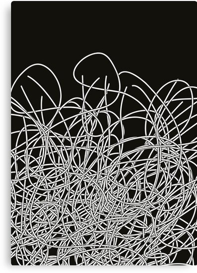 Black and white tangled wires by eZonkey