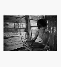 """Niño 11. Pelicula """"Sucedio en el Cielo"""" Photographic Print"""