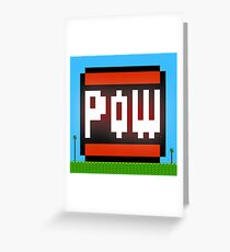 Big POW Greeting Card