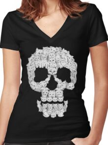Skulls are for Pussies Women's Fitted V-Neck T-Shirt