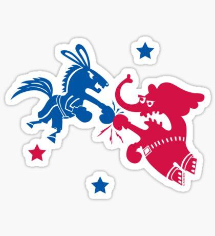 Political Fight t shirt Sticker