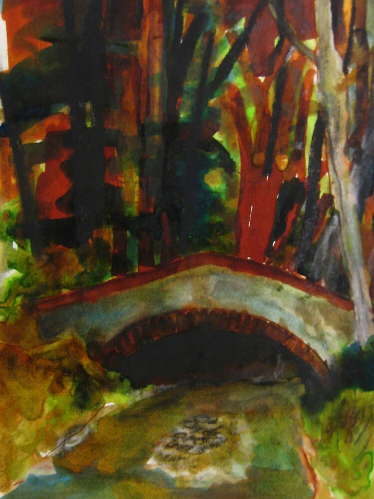 small bridge near Saddell Bay by Alfred Gillespie