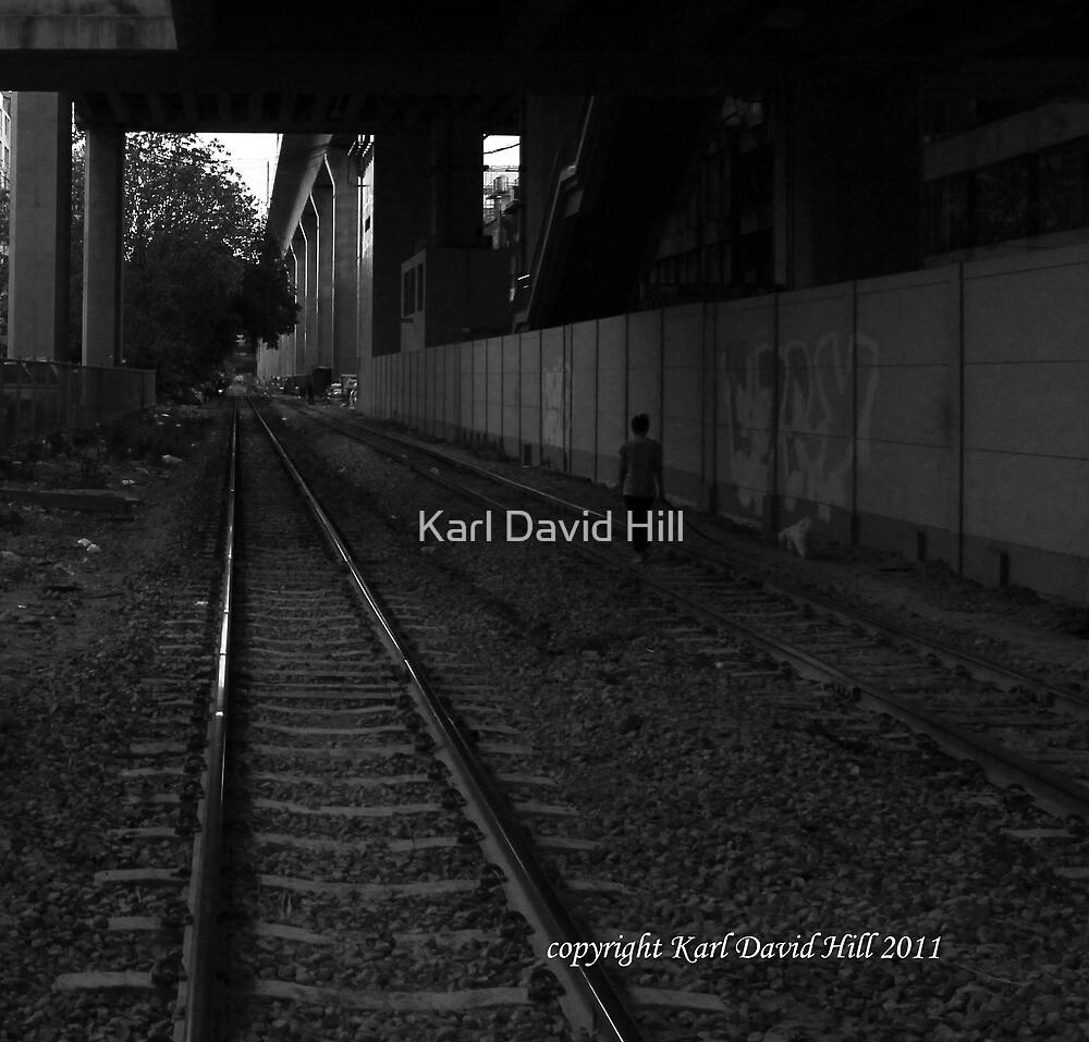 samsara (black and white) by Karl David Hill