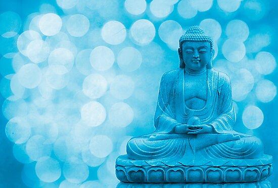 buddha light blue by hannes cmarits