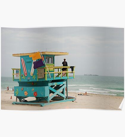 miami beach colours Poster