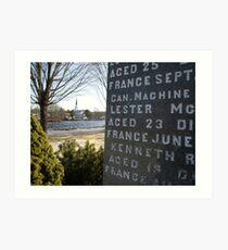 War Memorial Nova Scotia Art Print