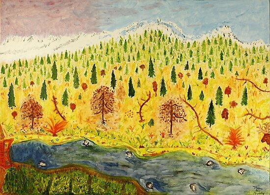 Mountain Landscape by Thomas Murphy