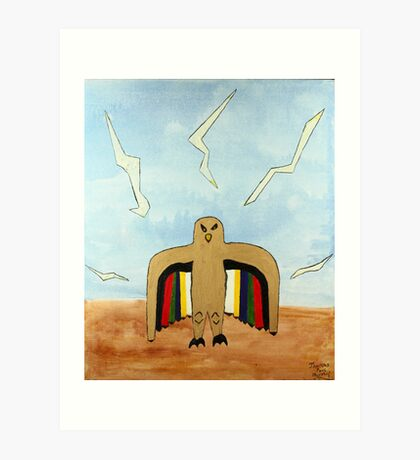 Dancing Robot  Bird Art Print