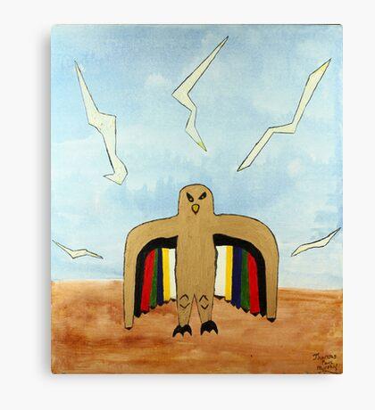 Dancing Robot  Bird Canvas Print