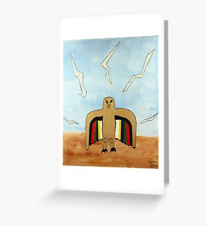 Dancing Robot  Bird Greeting Card