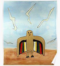 Dancing Robot  Bird Poster