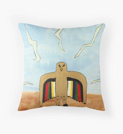 Dancing Robot  Bird Throw Pillow