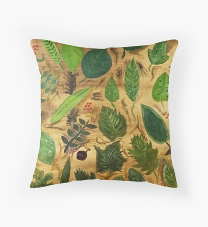 Wisconsin Leaves Throw Pillow