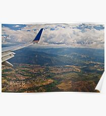 Flying over Costa Rica. Poster